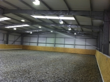 Watering a 40m x 20m indoor manege